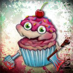 evil killer cupcake