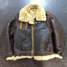 Original WWII B-3 shearling leather bomber by AfterlifeBoutiqueSF