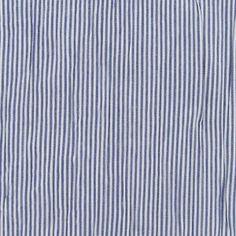 Tissu coton froissé Mini rayures bleu de France x 10cm