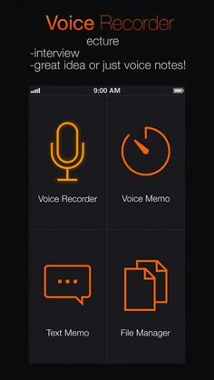Voice Recorder PRO™ ($0.99) • voice recording • record editing • convert voice recordings to text (!) • convert text files to speech • recognizes more than 30 languages • split the recording into separate fragments • simple design and a wide range of possibilities.