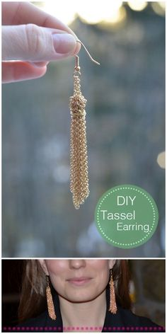 Diy Tassel Earrings #diy