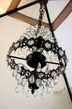 what: 1968 gold chandelier with dirty crystals when: where: summer block garage sale in decatur, illinois why. Thrift Shop Finds, Thrift Stores, Garage Sale Finds, Yard Sales, Home Decor Lights, Gold Chandelier, Dream Bathrooms, My Room, My Dream Home