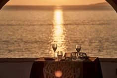 The personalized service in our dreamy restaurant's setting and the magnificent Mykonos sunset view will accompany you as you enjoy your dinner by the Kouros poolside restaurant, Luxury Restaurant, Restaurant Design, Mykonos Town, Mykonos Island, Hotel Suites, Culinary Arts, Fine Dining, Spa, Table Decorations