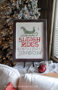 {Ella Claire}: Free Sleigh Rides Sign Template {Tutorial}