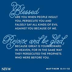 NIV Verse of the Day: Matthew 5:11-12