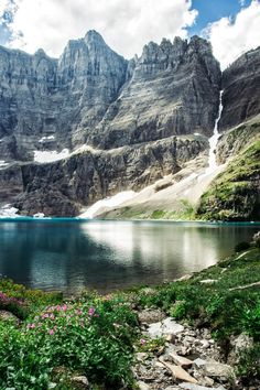 Sunshine at Iceberg Lake, Glacier National Park, Montana ♡