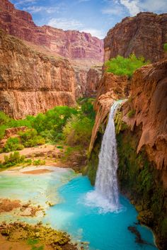 Havasu Falls, Arizona.           If you think the picture is amazing go and see it in person and feel it as well. Kinda like being in a paradise - Brandon
