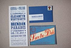 Postcard Save the Date is cool and different