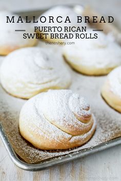 Mallorca Bread (Puerto Rican Sweet Bread Rolls) | TheNoshery.com