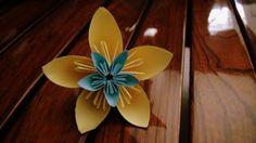 Origami paper flowers wreath ~ Crazzy Craft