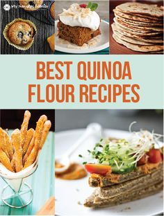 I've got 9 of the Best Ever Gluten-Free Quinoa Flour Recipes. Quinoa is naturally gluten-free and easy to work with and very healthy and high in protein. Gluten Free Baking, Gluten Free Desserts, Dairy Free Recipes, Paleo Recipes, Whole Food Recipes, Cooking Recipes, Quinoa Flour Recipes, Quinoa Desserts, Paleo Flour