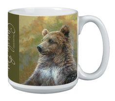 Tree-Free Greetings Extra Large 20-Ounce Ceramic Coffee Mug, Grizzly Bear Themed Wildlife Art (XM29919) *** For more information, visit now : Cat mug