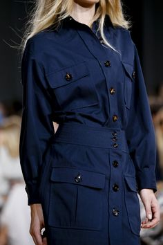 #nautical #style #trend #navy #blue #white #striped #red #fashion #ss15 #chloe #catwalk #readytowear #inspiration #sailor