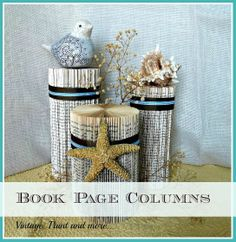 A simple tutorial to make decorative columns from old paper back books to use in your vignettes.