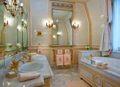 Hues - Coco Chanel's hotel suite Coco Chanel 's bathroom suite at the Ritz Hotel Paris .Coco Chanel 's bathroom suite at the Ritz Hotel Paris . Paris Hotels, Entryway Furniture, Luxury Furniture, Contemporary Furniture, Refurbishing Furniture, Rustic Furniture, The Ritz Paris, Paris Paris, Paris Decor