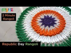 Rangoli tips for making basic flowers design and border design. Daily Design, easy and quick colorful art. Indian tradition and culture kolam also know as mudulu. Rangoli Borders, Rangoli Border Designs, Colorful Rangoli Designs, Rangoli Designs Diwali, Kolam Designs, Independence Day India Images, Independence Day Decoration, Independence Day Wallpaper, National Flag India
