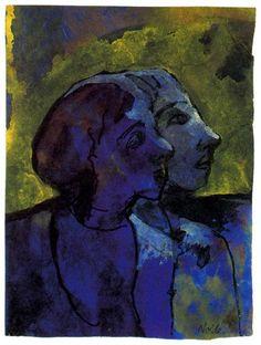 """ Blue couple in sidelight, Emil Nolde """