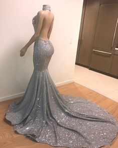 Elegant Halter Mermaid Prom Dresses 2019 Backless Sequins Evening Gowns sold by lovedress. Shop more products from lovedress on Storenvy, the home of independent small businesses all over the world. Diamond Prom Dresses, Black Girl Prom Dresses, Senior Prom Dresses, Cute Prom Dresses, Prom Outfits, Formal Dresses, Diamond Dress, Dresses Dresses, Sequin Prom Dresses