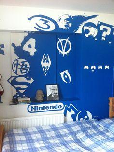 Video Game Logo Room