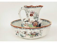 Masons Ironstone Pitcher and Wash Basin