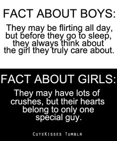 fact about boys vs. fact about girls Yeah people are like why do u like so many people girl. They are just crushes I only have one guy in my heart ❤️