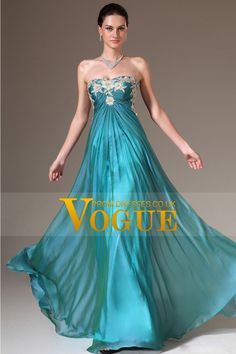 2014 Slight Sweetheart Pleated And Fitted Bodice A Line Chiffon Prom Dress With Applique