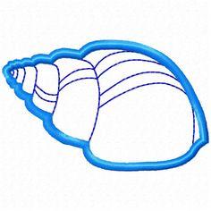 Applique Sea Shell (Embroidery Design for Machine Embroidery)