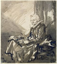 Rembrandt van Rijn, Seated Woman with an Open Book on Her Lap (c.1639)