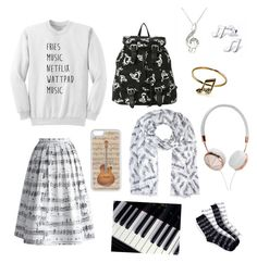 """""""Music"""" by pjax2 ❤ liked on Polyvore featuring moda, Chicwish, CellPowerCases, Frends, women's clothing, women's fashion, women, female, woman i misses"""