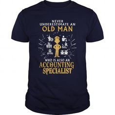 Accounting Specialist old man T Shirts, Hoodies. Check price ==► https://www.sunfrog.com/LifeStyle/Accounting-Specialist-old-man-Navy-Blue-Guys.html?41382