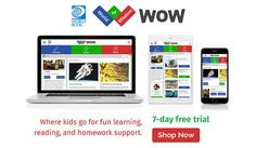free trial Your kids will learn while they have fun using World Book WOW! Over 500 fun, educational games + Safe and fun learning experience! Improve Reading Skills, Free Baby Samples, Wow World, Educational Games, Free Baby Stuff, Fun Learning, Wisdom, Usa, Books