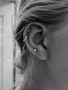 debating a piercing like the hoop or the top stud one hm
