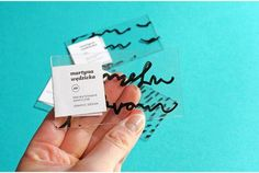 Transparent Business Cards - Martyna Wedzicka Created a Clever Clear Plastic Business Card (GALLERY) Transparent Business Cards, Clear Business Cards, Examples Of Business Cards, Plastic Business Cards, Minimal Business Card, Unique Business Cards, Creative Business, Logo Inspiration, Business Card Design Inspiration