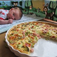 Ham Quiche, Snack Recipes, Snacks, Greek Recipes, Vegetable Pizza, Brunch, Side Dishes, Food And Drink, Low Carb