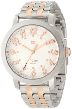 Tommy Hilfiger Women's 1781217 Classic Analog Enamel Bezel Watch Tommy Hilfiger. $95.67. Water-resistant to 30 M (99 feet). Classic stylish stainless steel case. Quartz movement. Durable mineral crystal protects watch from scratches,. Rose gold plated arabic numerals. Save 34%!