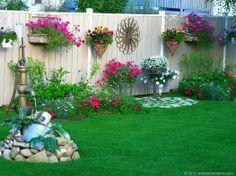 Beautiful backyard fence