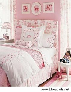 Cute bedroom for a girl.