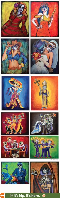 Day of The Dead oil paintings by Sean Wells.
