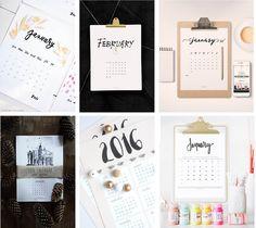MAMA Z PRZEDMIESCIA: Darmowe kalendarze 2016 do wydruku - Free printable 2016 calendars