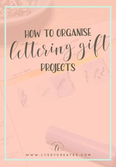 Overwhelmed with lettering gifts for people this festive season? Read how I plan to complete everything in time in this how to plan post!