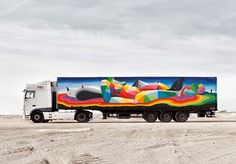 Truck Art Project: arte contemporânea itinerantes, caminhões;