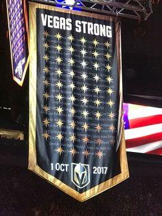 da8300064fb Banner in honor of 58 lives lost on 1 October Lv Golden Knights
