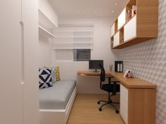80 Fantastic Small Apartment Bedroom College Design Ideas and Decor 10 – Home Design Small Apartment Bedrooms, Small Apartment Design, Small Bedroom Designs, Small Room Design, Small Room Bedroom, Home Office Design, Small Rooms, Small Apartments, Modern Bedroom