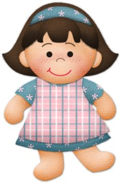 """Photo from album """"Afternoon Giggles"""" on Yandex. Girl Clipart, Cute Clipart, Little People, Little Girls, Decoupage, Strawberry Shortcake Doll, Kids Scrapbook, Scrapbooking, Figure Sketching"""