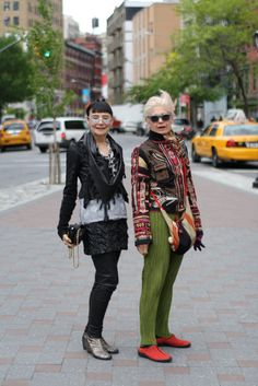 """From Advanced Style: """"Should we ever stop playing Dress Up? Like many of the women I photograph, they feel that style should be fun and not taken too seriously. Each one of them has a unique sense of personal style, but their approach to life and dressing is very similar... Check out Maayan Zilberman's great interview with Debra and Maryann,"""" at the click"""