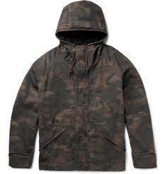 Yeezy x Adidas Originals - Oversized Hooded Camouflage-Print Cotton-Canvas Jacket