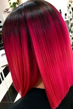 Bright Look with Magenta Hair Color picture 1