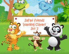 Zoo Digital Clipart, Zoo Clipart, Safari Clipart, Jungle Animal Clipart, Wild Animal Clipart / INSTANT DOWNLOAD