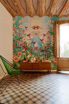 love this for a lil girls room.... I love the colors n happy feeling <3