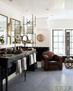 Love this! - Masculine bath design | CHECK OUT MORE BATHROOM DECORATION IDEAS AT DECOPINS.COM | #Bathrooms #bath #bathroomdecoration #bathroomcabinets #bathroomvanities #bathroomvanity #smallbathroomideas #jackandjillbathroom #homedecor #homedecoration #bathrooms #kitchens #kitchendecor #bathroomdecor #interiordesign #design #homedecorpictures #homedecoratingpictures #pictureshomedecoratingideas #interiorpicturesofhomes #interiordesignpictures #homedecoratingphotos #kitche